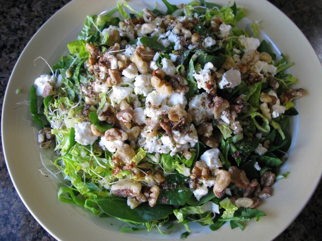 Feta, Walnut Salad with Special House Dressing | Advanced Healing