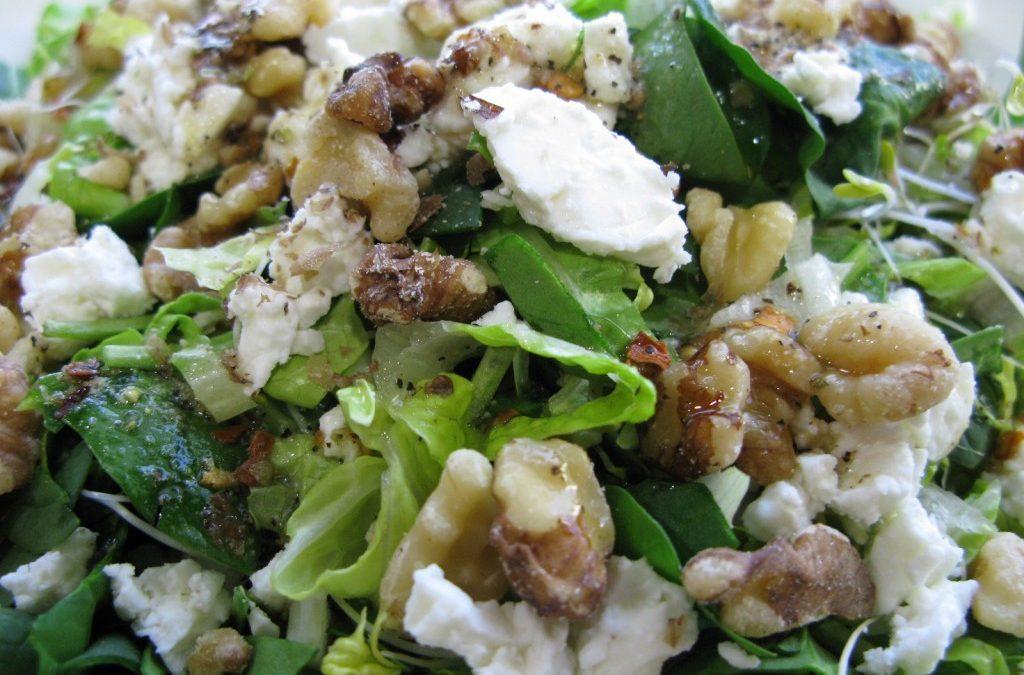 Feta, Walnut Salad with Special House Dressing