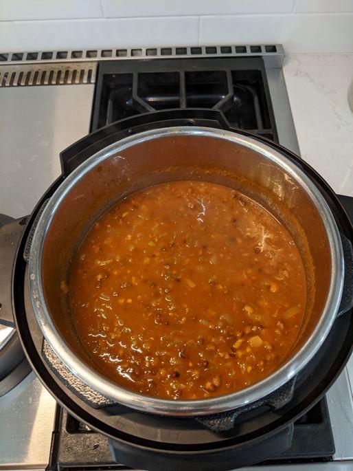 Ettinger Dal Makhani Easy Instant Pot Recipe - Done