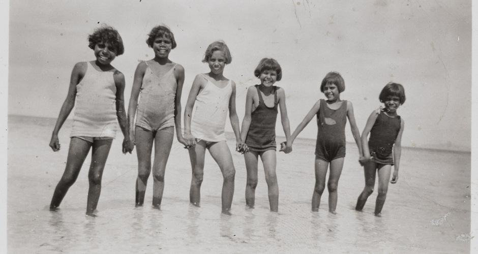 Aboriginal children with perfect teeth and dental arches