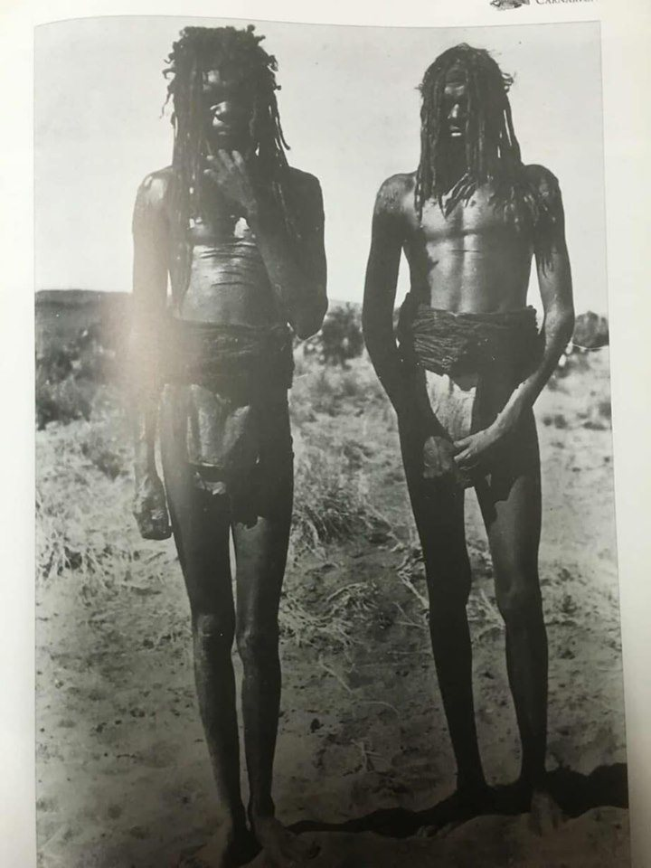 Two Njamal, Aboriginal men from Western Australian circa early 1900's